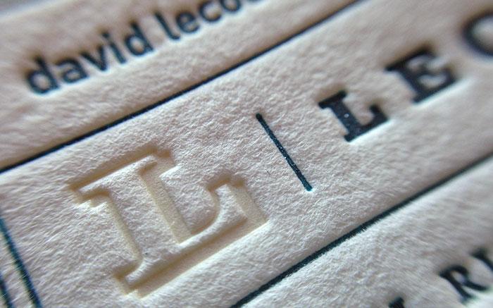 LecoursDesign business card letterpress