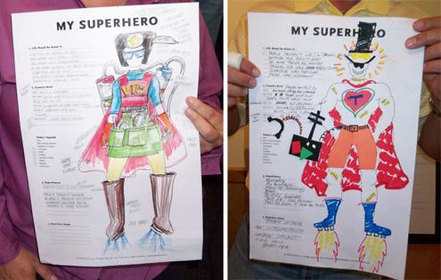 Two Creative Superheroes