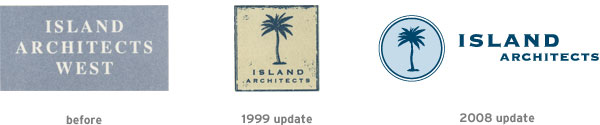 Island Architects logo evolution