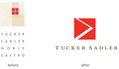 Tucker Sadler logo evolution