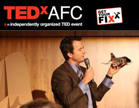 David Lecours speaking at TEDx America's Finest City