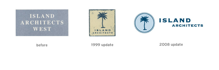 Evolution of the Island Architects logo