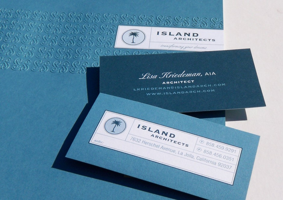 Island Architects brochure & business cards