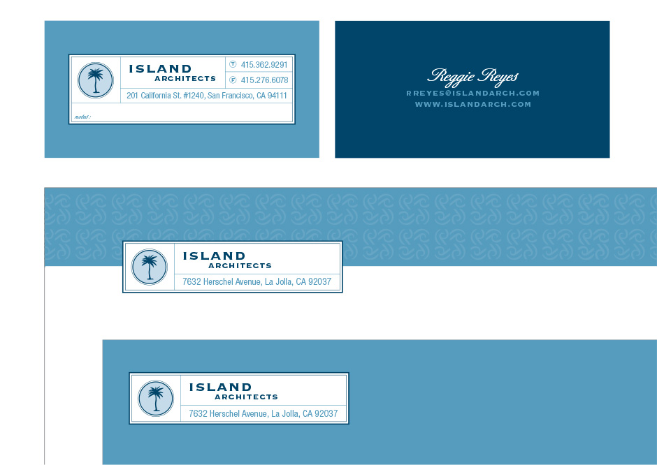 Island Architects Stationery System