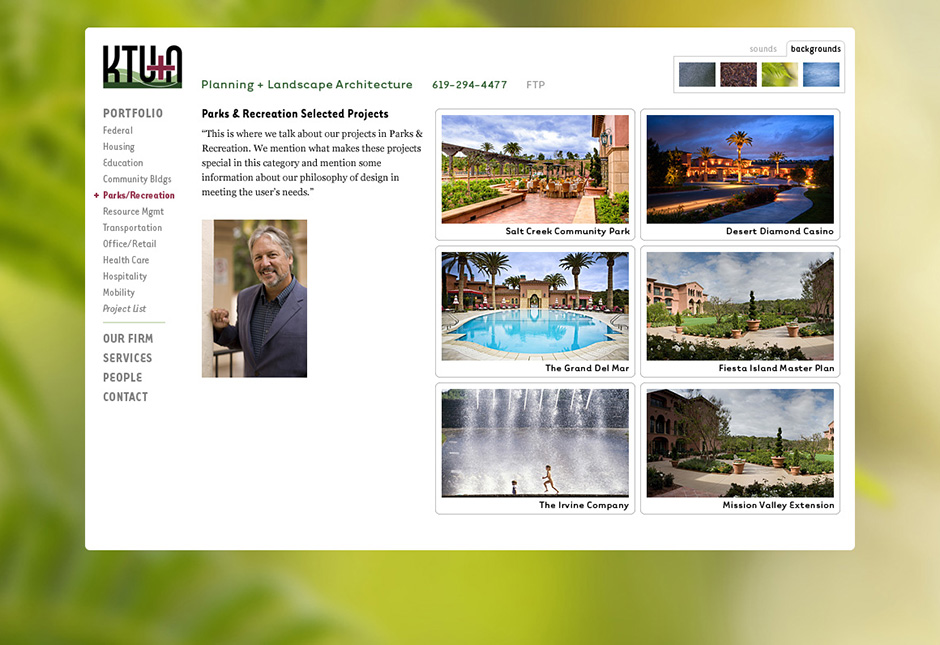 KTU+A Website Project Gallery