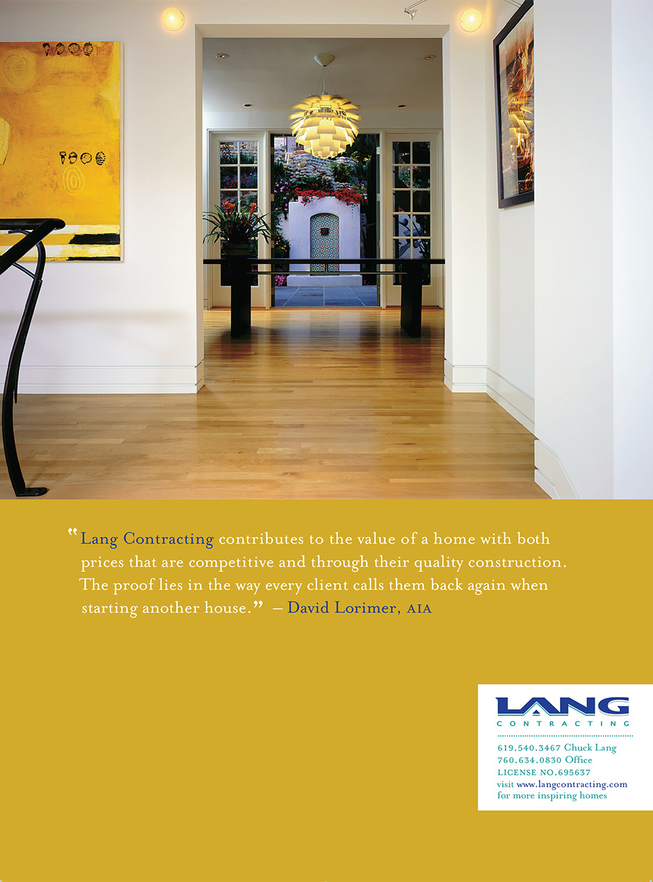 Lang Contracting Print Ad