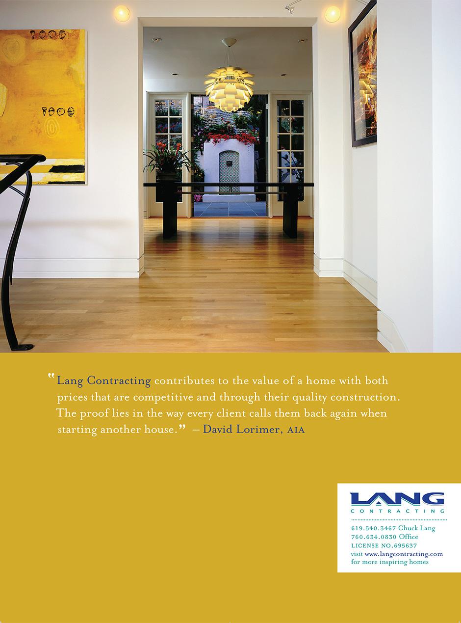 Lang Contracting Print Ad