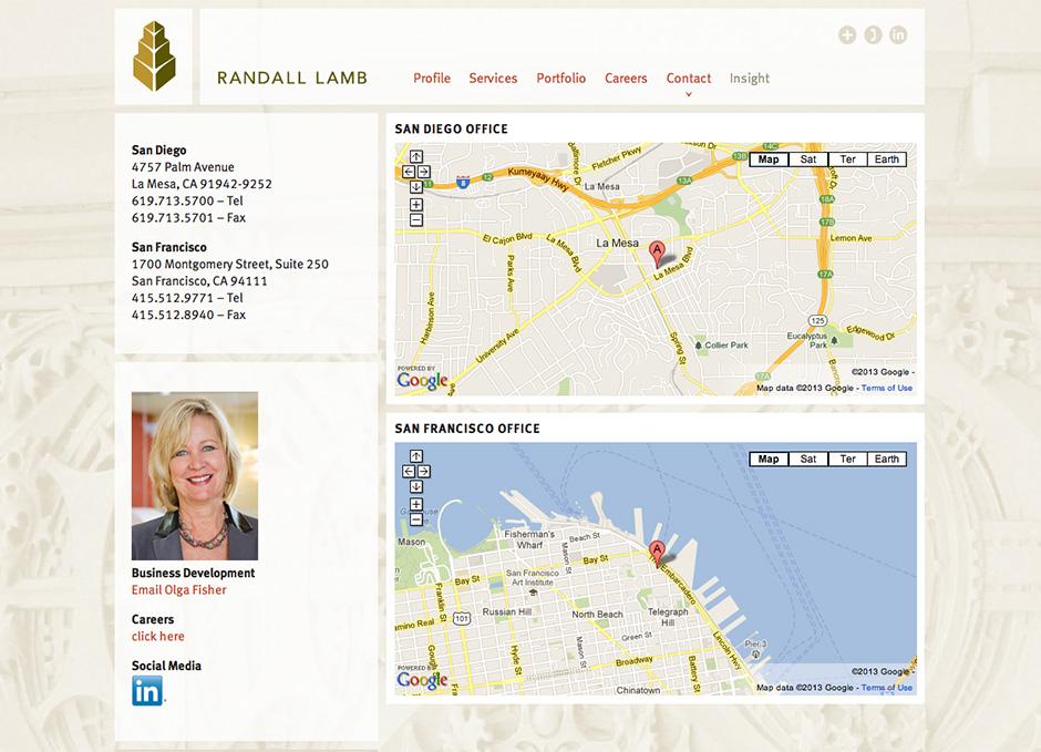 www.randalllamb.com contact page