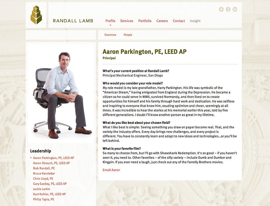 Leadership page