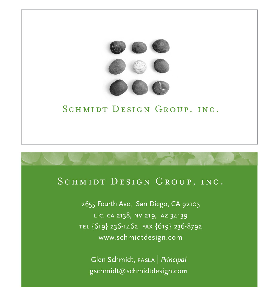 Schmidt Design Group Business Cards