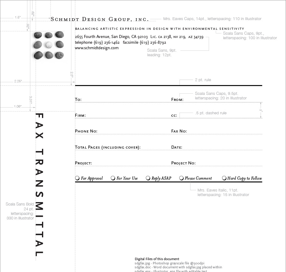 Schmidt Design Group Forms