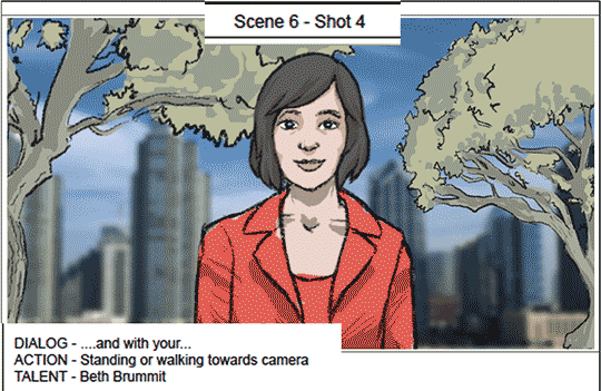 frame from storyboard