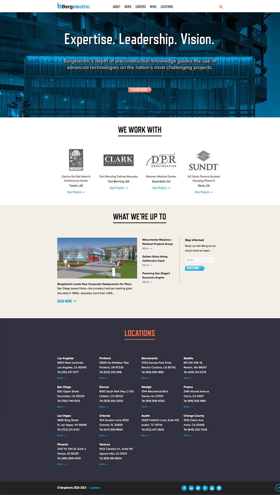 Bergelectric Website Home Page