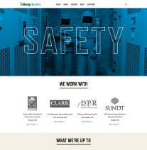 Bergelectric Website Home Page Safety