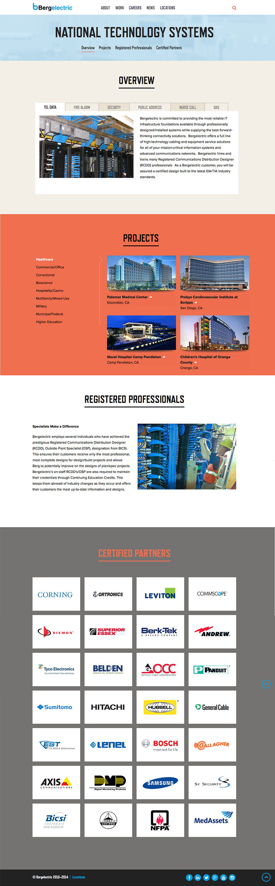 Bergelectric National Technology Systems Page