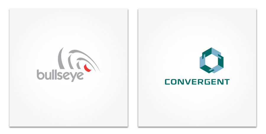 Bullseye and Convergent logo