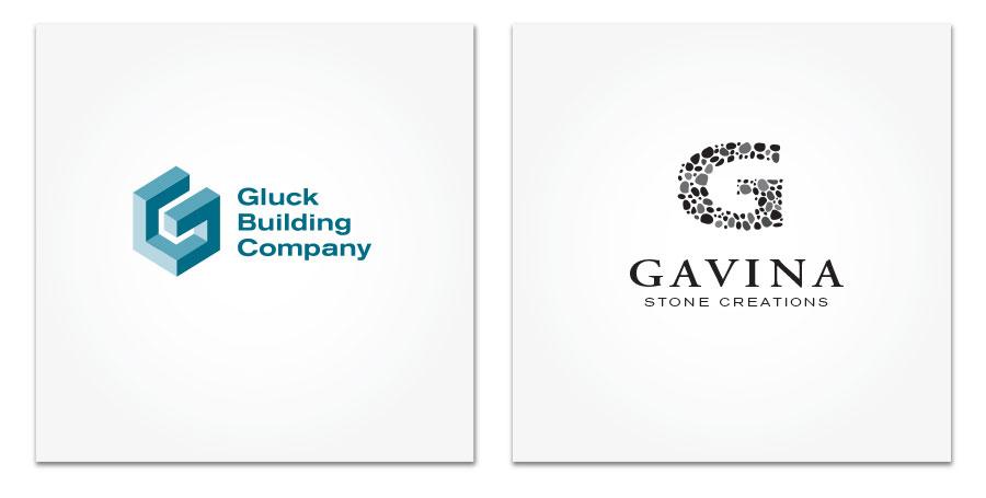 Gluck Building Company and Gavina logo