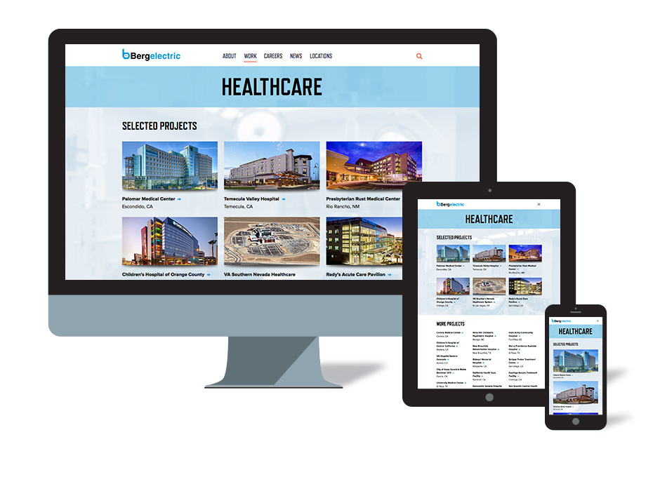 Website Design for Bergelectric