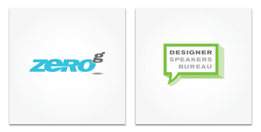 Zero G and Design Speakers Bureau logo
