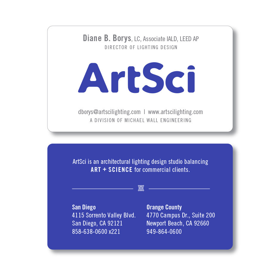 ArtSci Business Cards by LecoursDesign