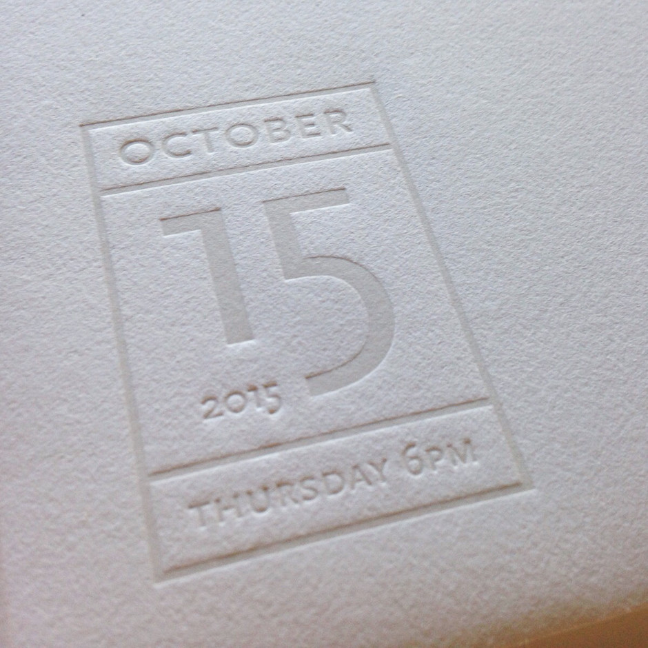 Letterpress envelope detail