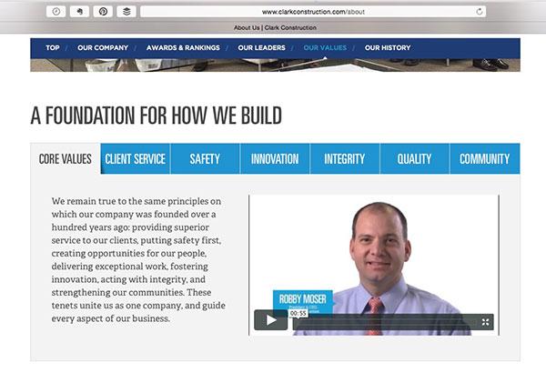 Clark Construction Core Values