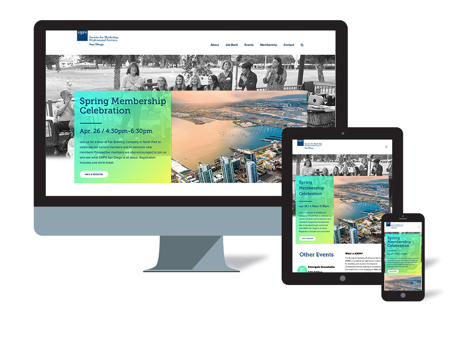 SMPS San Diego chapter website by LecoursDesign