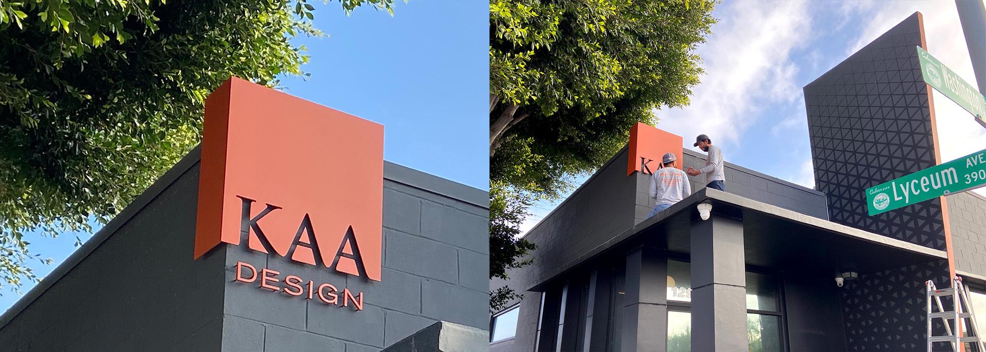 KAA Design Signage